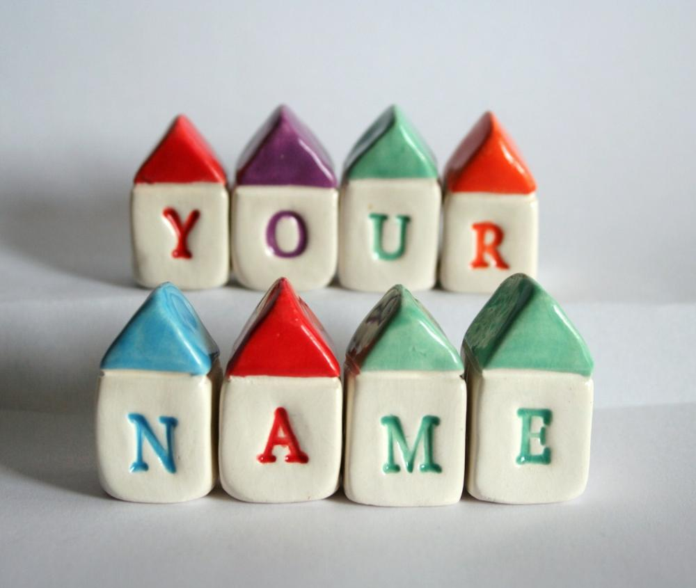 CUSTOM NAME Miniature Houses